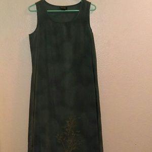 Andrea Behar gray maxi dress